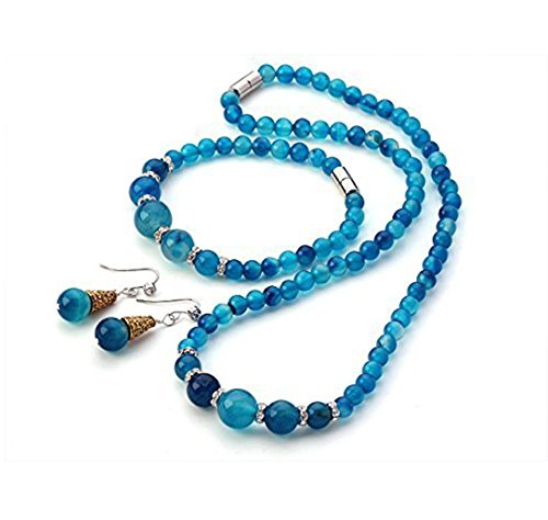 Inspire-6-12mm-Blue-Agate-Gemstone-Necklace-Matching-Bracelet-and-Earrings-Jewellery-Set-With-magnetic-clasp-presented-in-a-Beautiful-Jewellery-gift-box-0