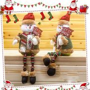 Covermason-Christmas-Decorations-Santa-Claus-Sitting-Porcelain-Snowman-Christmas-Ornament-B-0-2